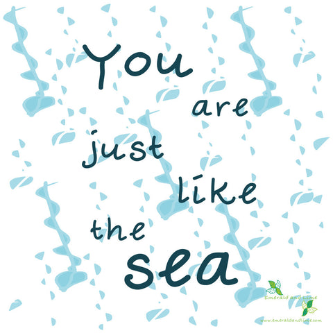 Emerald and Lime | You are the sea | Eco-friendly Fifty-word fiction Art Print