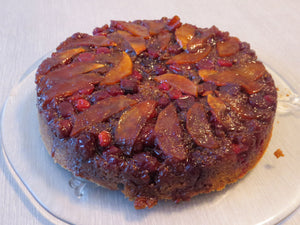 Holiday Baking with Mockmill (Caramel Apple Cranberry Upside Down Cake)