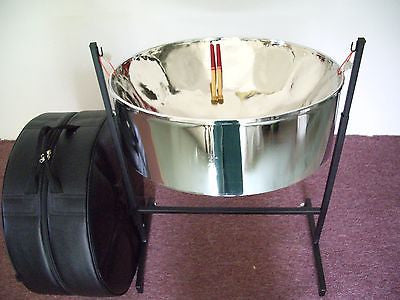 KaribPAN - Lead ''C'' (Soprano) Steel Pan Package w/ Case, Stand & Sticks (Free FedEx Intl. Economy Shipping)