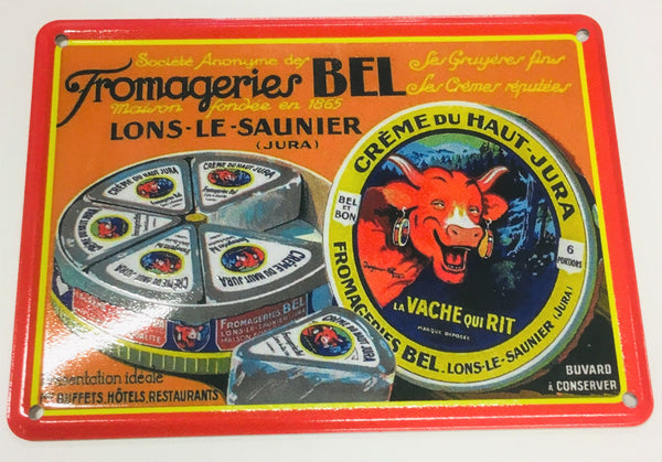Carte métallique Fromageries Bel®
