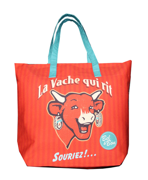 Shopping bag COUCKE x La vache qui rit® Rétro rouge - Boutique La vache qui rit®