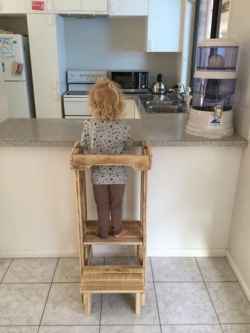 Wooden Toddler Helper Step