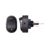 Illuminated Oval On/Off Switch - 16A - VWS
