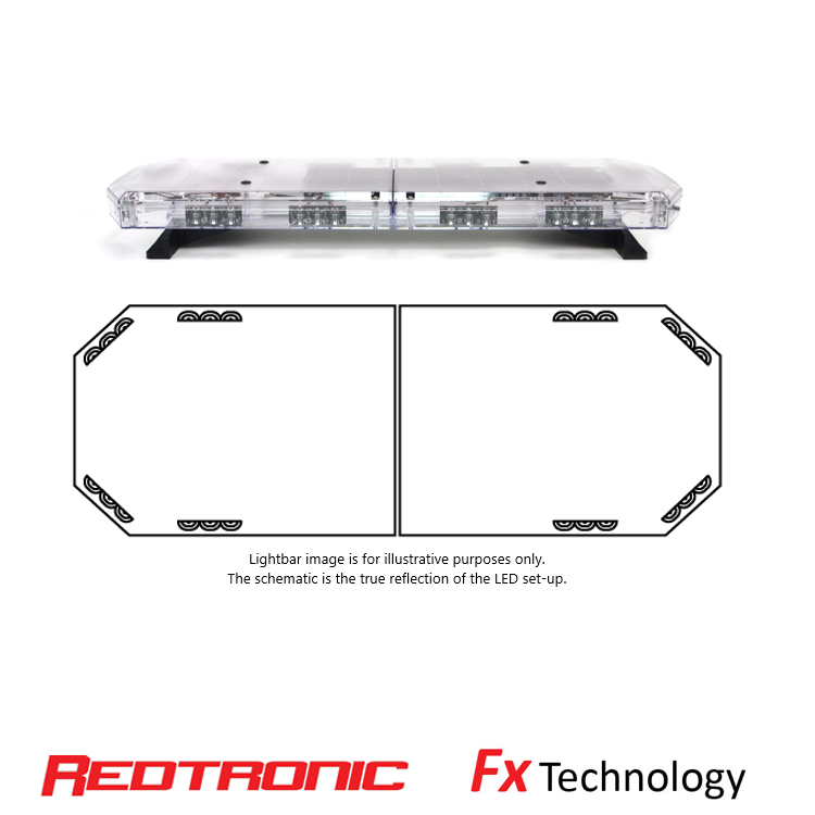 "35.5"" Mega-Flash FX1 LED Lightbar - Redtronic"