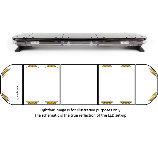 "43.5"" Mega-Flash SB2 Spartan LED Lightbar - Redtronic"