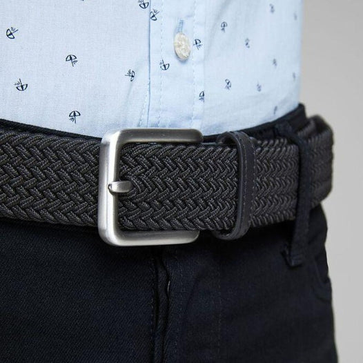 JACK & JONES Spring Woven Belt in BLACK