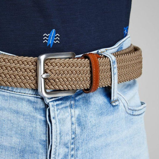JACK & JONES Spring Woven Belt in INCENCE