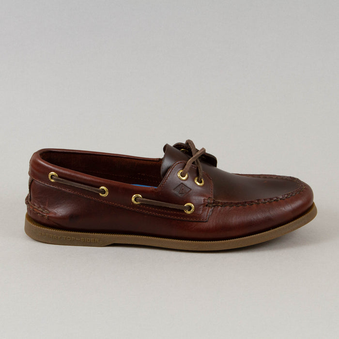Topsider Authentic Original 2 Eye Boat Shoe in AMARETTO LEATHER