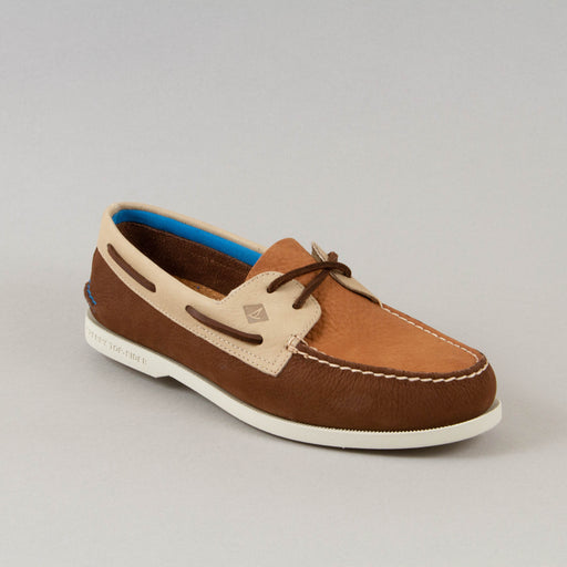 Plush Authentic Original 2 Eye Washable Boat Shoe in BROWN & TAN