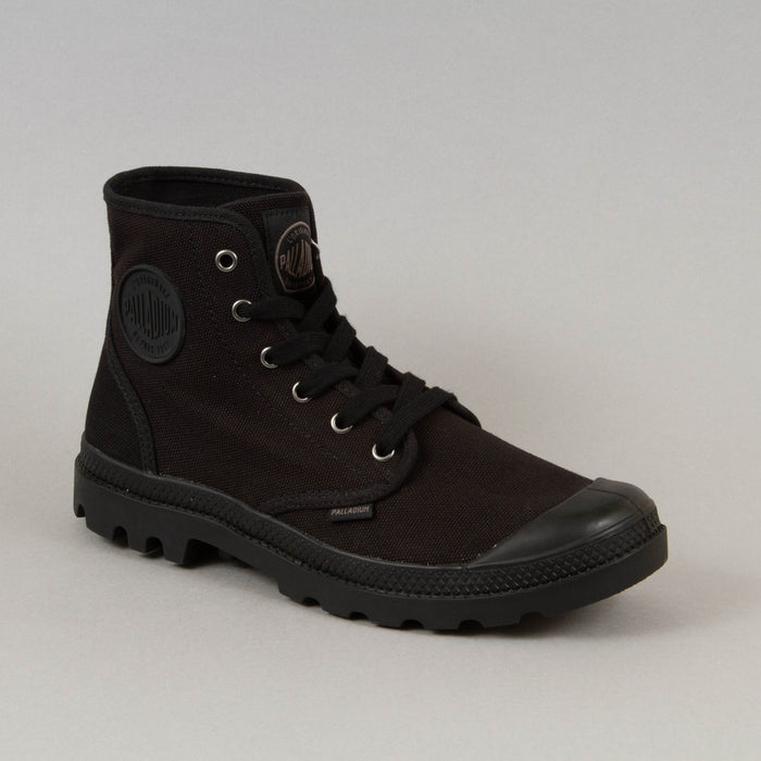 Pampa Hi Canvas Boot in BLACKPALLADIUM - CACTWS
