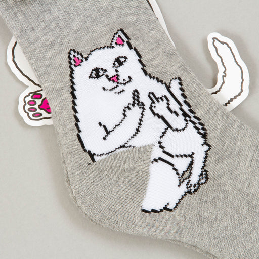 Lord Nermal Ribbed Socks in HEATHER GREYRIPNDIP - CACTWS