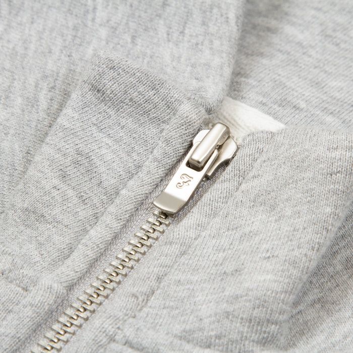 Jim Quarter Zip Sweater in LIGHT GREY MARL
