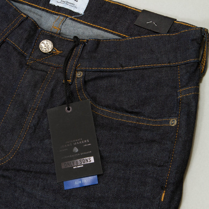 Loom Rinse Wash Slim Fit Jeans IN BLUE DENIMONLY AND SONS - CACTWS