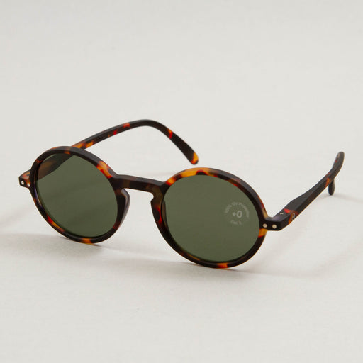 #G The Round Sunglasses in TORTOISE GREEN