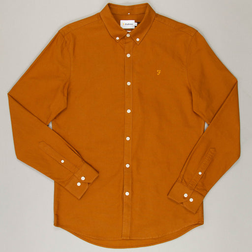 Brewer Slim Fit Shirt in SPANISH BROWN