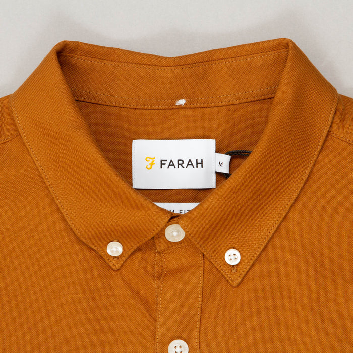 Brewer Slim Fit Long Sleeve Shirt in SPANISH BROWNFARAH - CACTWS