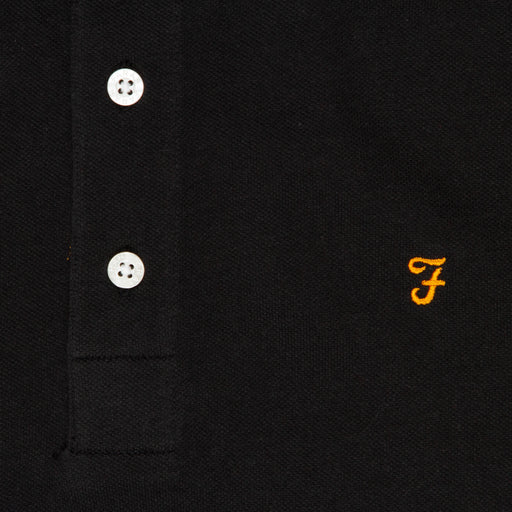 Blanes Polo Shirt in DEEP BLACKFARAH - CACTWS