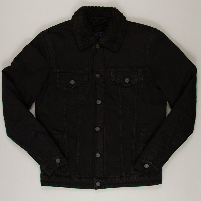 Louis Teddy Lined Denim Jacket in BLACKONLY AND SONS - CACTWS