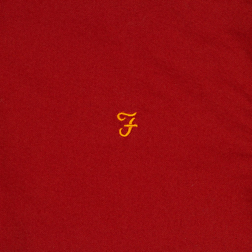 Brewer Slim Fit Shirt in BURNT RED