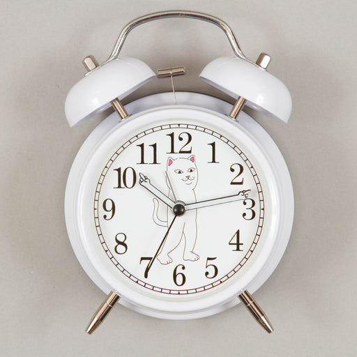 F**king Late Custom Alarm Clock in WHITE