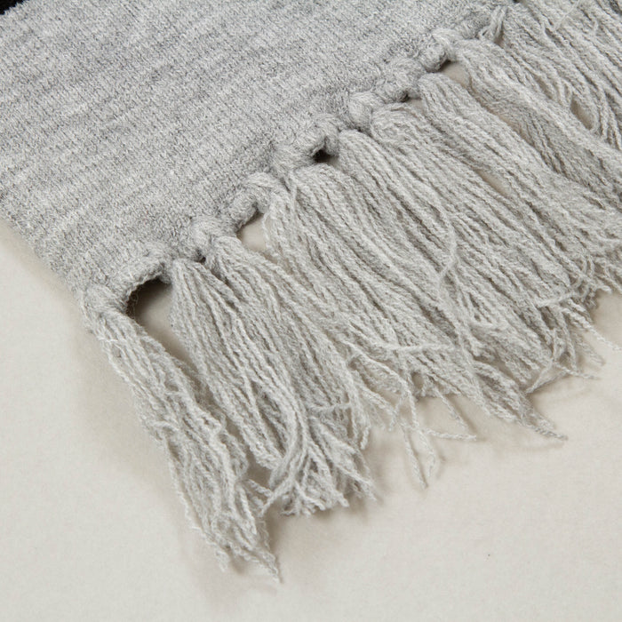 Unisex Brecken Large Scarf in GREY MARL & BLACKNICCE - CACTWS
