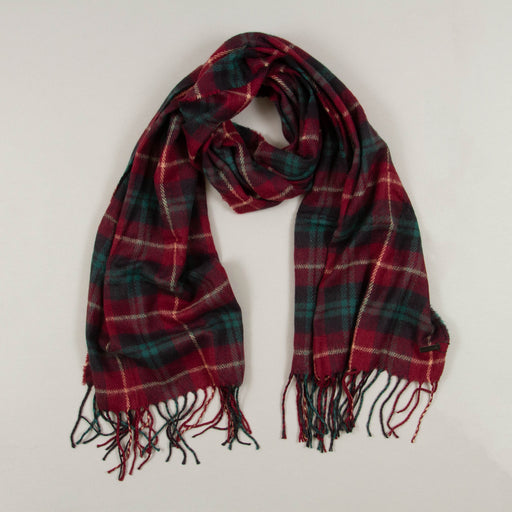 Carlos Check Scarf in WINETASTINGONLY AND SONS - CACTWS