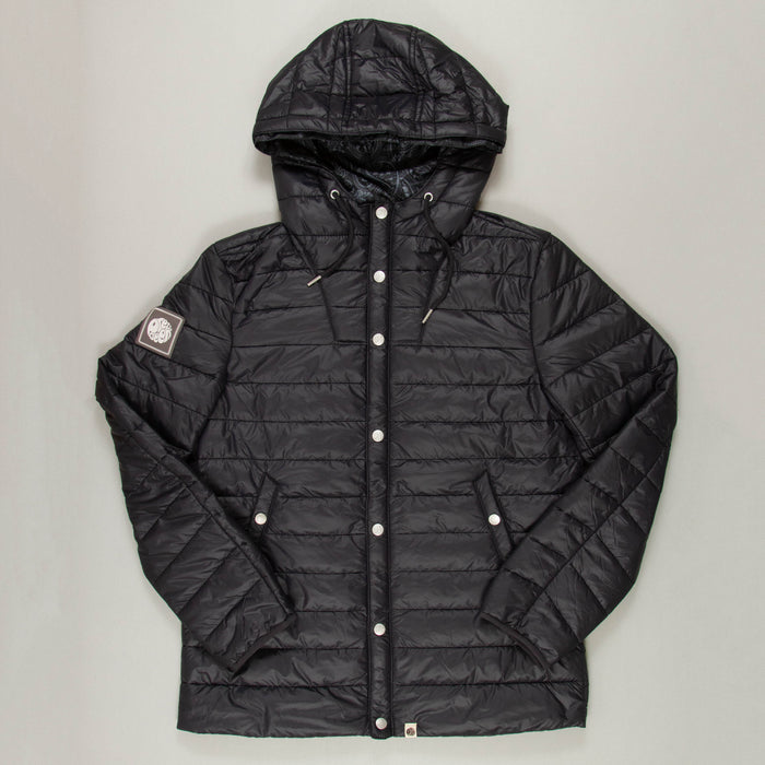 Quilted Jacket in BLACKPRETTY GREEN - CACTWS