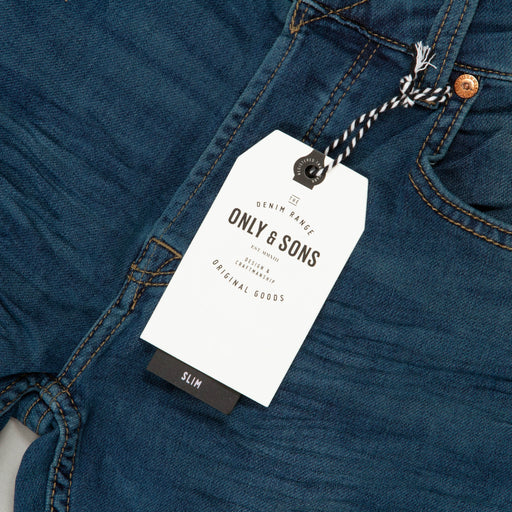 Loom Jog Slim Fit Jeans in BLUE DENIM