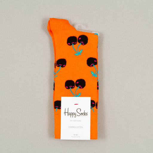 Cherry Socks in ORANGE, BLACK & BLUEHAPPY SOCKS - CACTWS