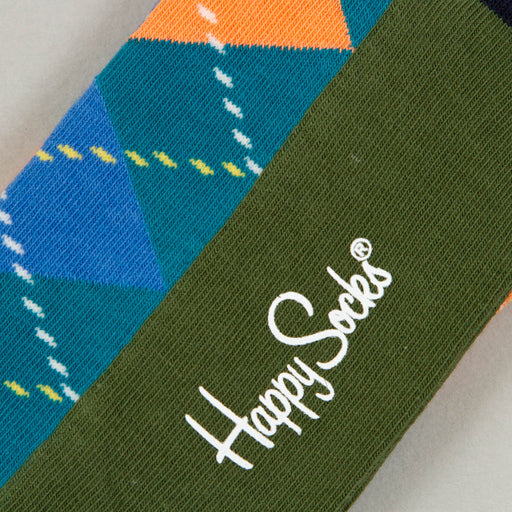 Argyle Socks in BLACK, BLUE & ORANGEHAPPY SOCKS - CACTWS