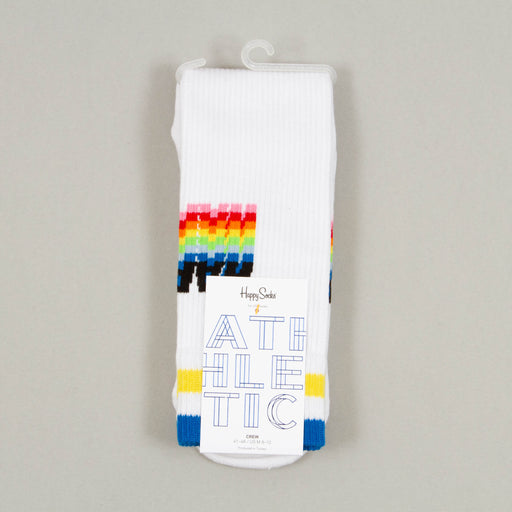 Athletic Happy Socks in BLUE, WHITE & YELLOWHAPPY SOCKS - CACTWS