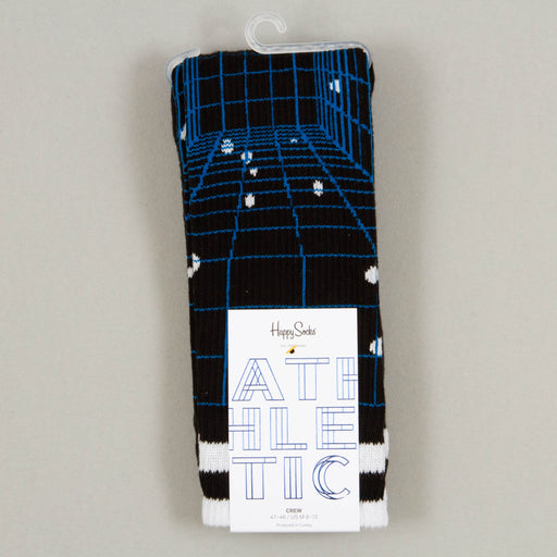 Athletic Grid Socks in BLUE, BLACK & WHITE
