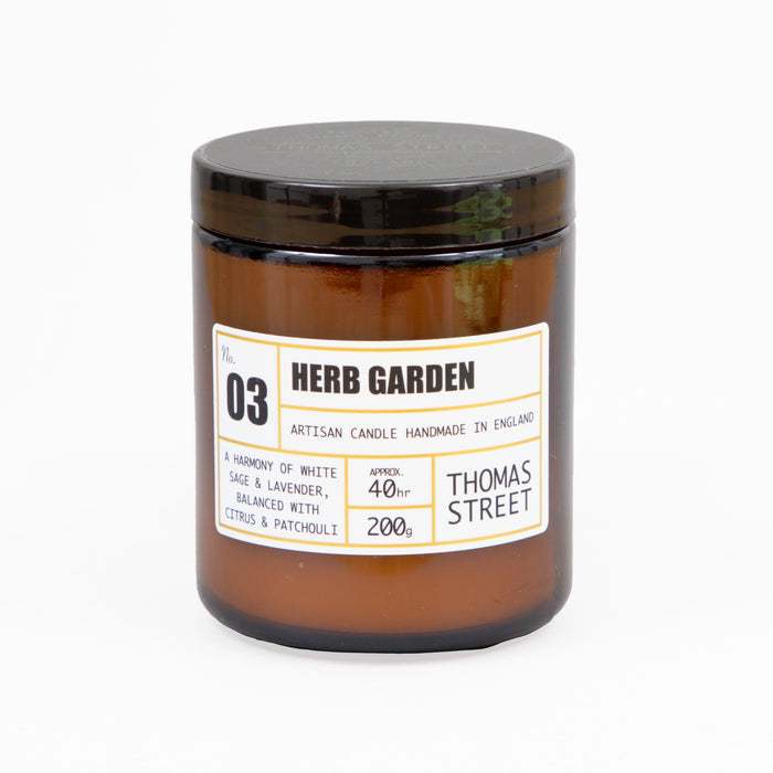 THOMAS STREET CANDLES #3 Herb Garden Glass Candle (200g)