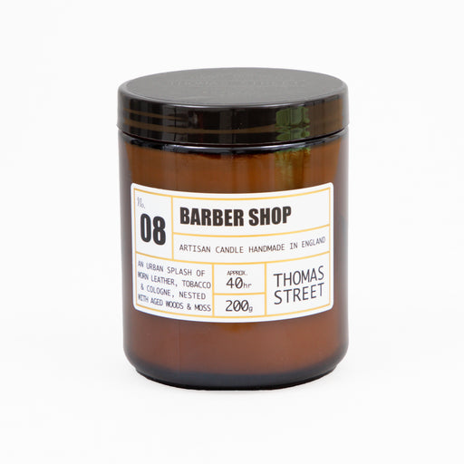 #8 Barber Shop Glass Candle 200g