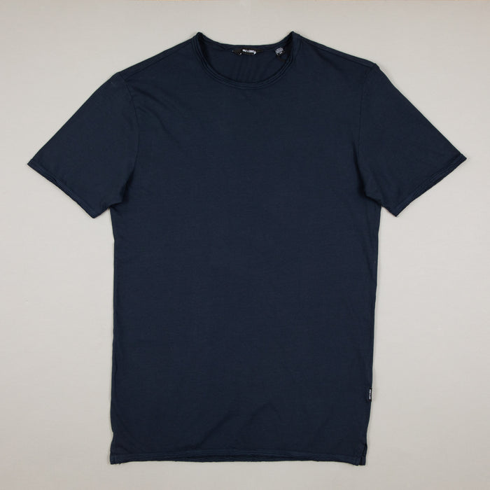 Albert Washed O-Neck Tee in DARK NAVYONLY AND SONS - CACTWS