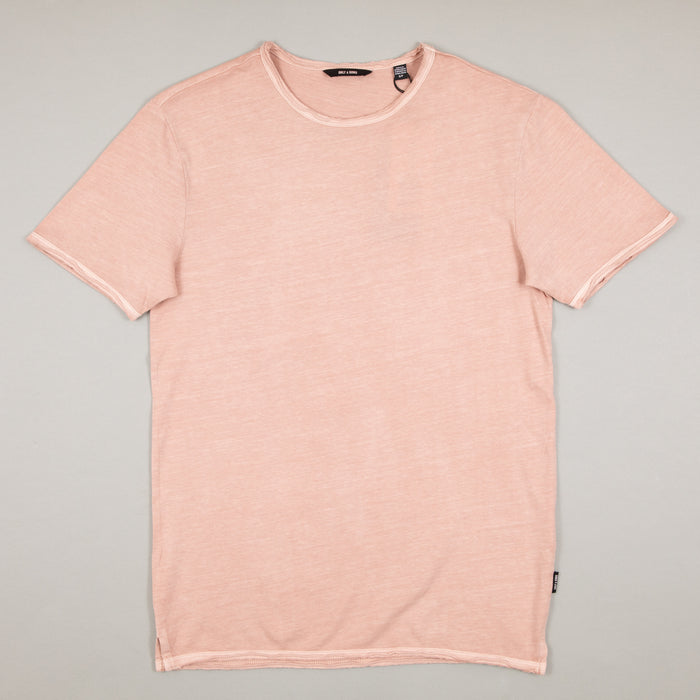 Albert Washed O-Neck Tee in MISTY ROSEONLY AND SONS - CACTWS