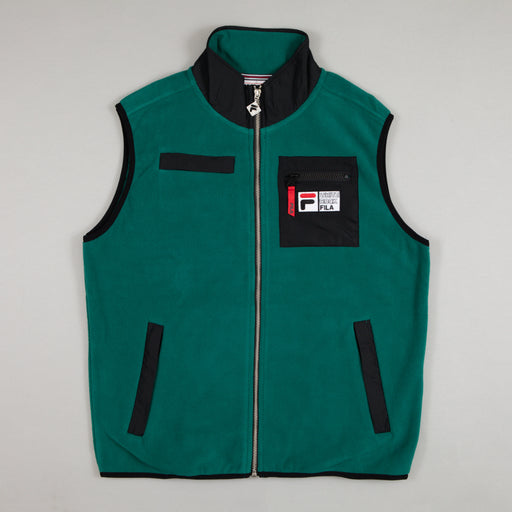 FILA Antelao Polar Fleece Gilet in STORM GREEN