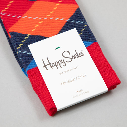 Argyle Socks in BLUE, RED & ORANGEHAPPY SOCKS - CACTWS