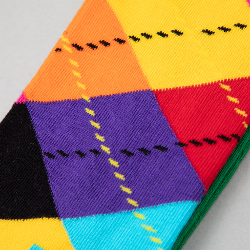 Argyle Socks in MULTICOLOUREDHAPPY SOCKS - CACTWS