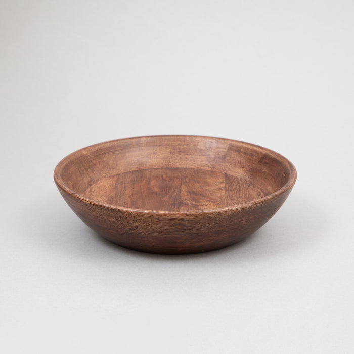 LIGHT & LIVING BEGORO Dishes Set of 3 Wooden Bowls in BROWN