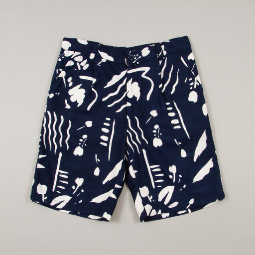 Bregenz Printer Shorts in NAVYBELLFIELD - CACTWS