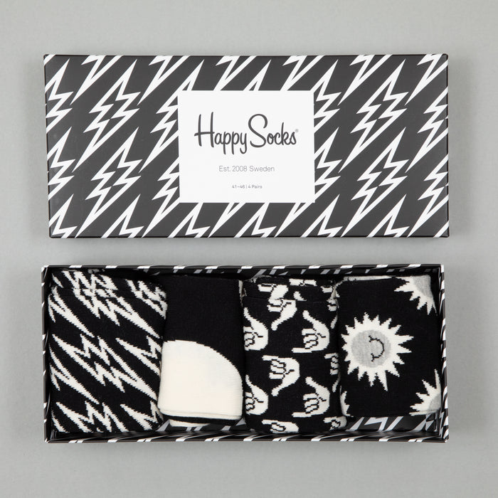 Black and White Gift BoxHAPPY SOCKS - CACTWS