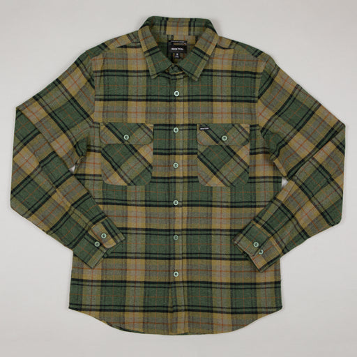 Bowery Long Sleeve Flannel Shirt in EVERGREEN