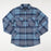 BRIXTON Bowery Long Sleeve Flannel Shirt in NAVY