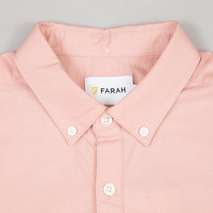 FARAH Brewer Slim Fit Oxford Shirt in BLUSH PINK