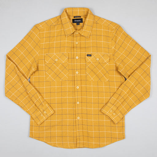 Bowery Long Sleeve Flannel Shirt in HONEY