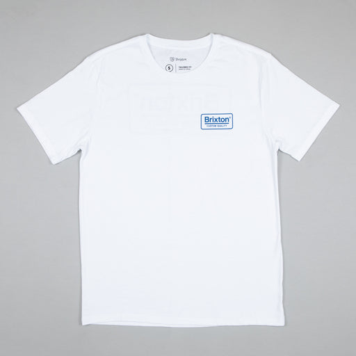 Palmer Short Sleeve Premium Tee in WHITE & ROYAL