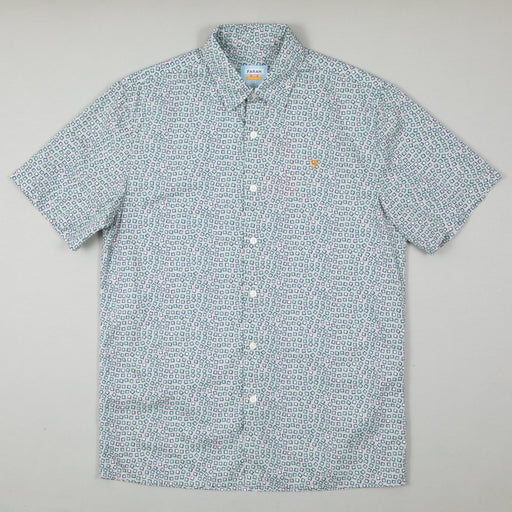 Brooks Short Sleeve Shirt in GREEN MISTFARAH - CACTWS