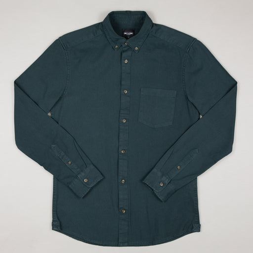 ONLY & SONS Bryce Life Organic Long Sleeve Shirt in DARK NAVY