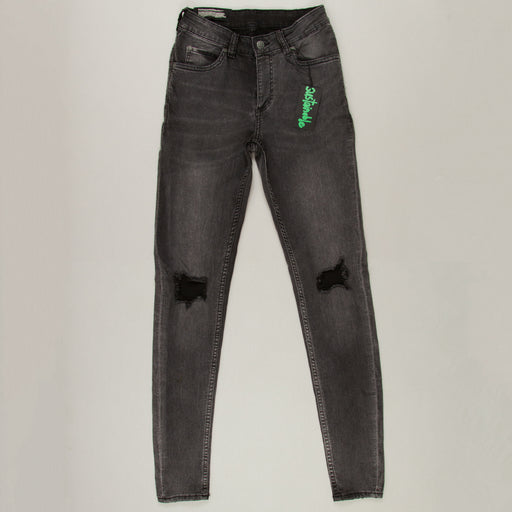 Him Spray Mid Rise Super Skinny Jeans in BLOW BLACKCHEAP MONDAY - CACTWS